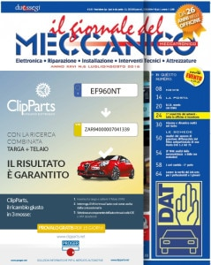ClipParts in copertina sul Giornale del Meccanico luglio 2016